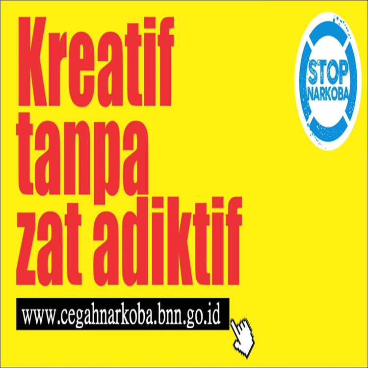 Kreatif Tanpa Zat Adiktif Poster Anti Narkoba