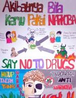 Orang Kreatif Jauhi Zat Adiktif Poster Anti Narkoba